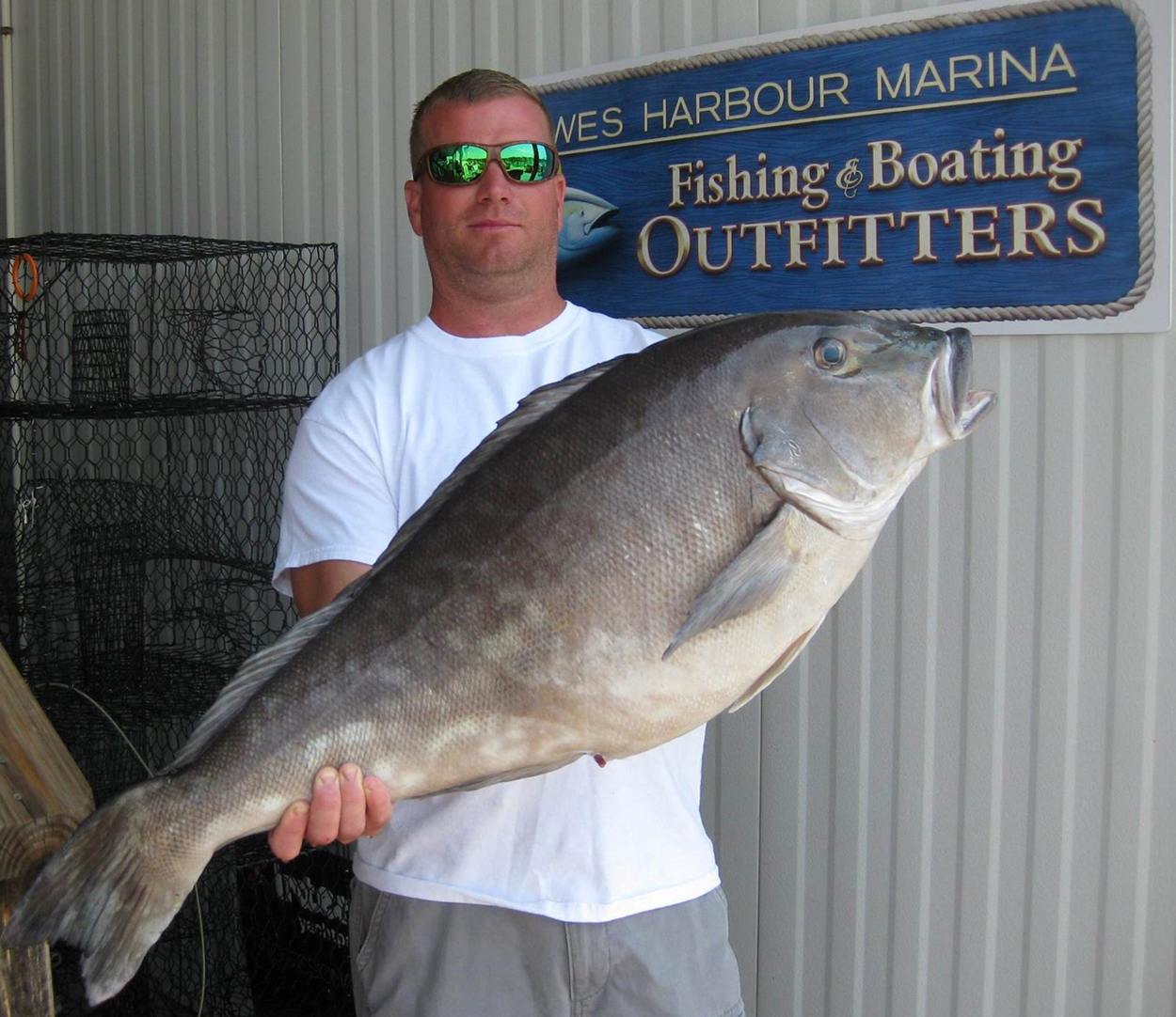 Delaware record 21 pound 8 ounce blueline for Dnrec fishing report