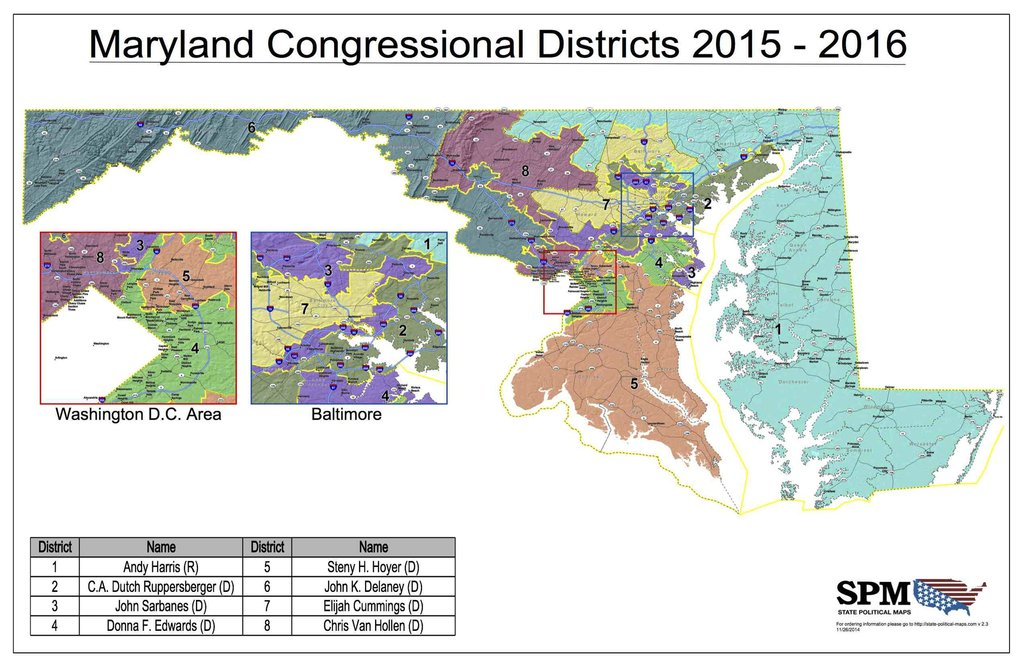 MD39s Congressional District Maps To Be Challenged In Court