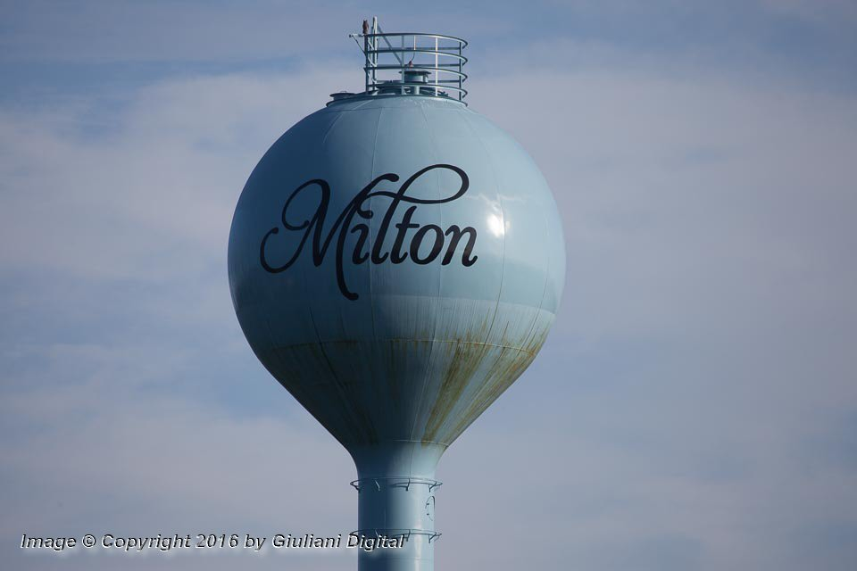Milton Water Tower - Photo © Copyright 2016 by Giuliani Digital All Rights Reserved