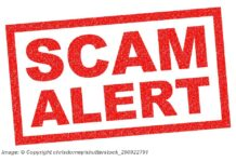 Red Scam Alert - Image: © Copyright chrisdorney/shutterstock