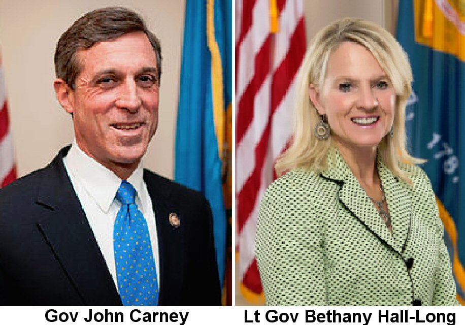 Gov John Carney-Lt Gov Bethany Hall-Long