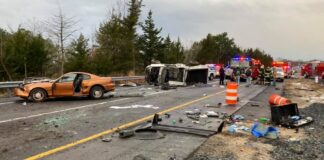 3-vehicle crash, Route 1 near Milton Dec. 22nd photo courtesy of Milton Fire Dept.