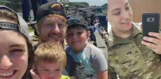 Photos of CPL Erin Sasse and family (photos courtesy of Delaware National Guard)