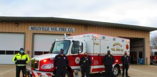 Photo courtesy of Millville Volunteer Fire Company - new ambulance