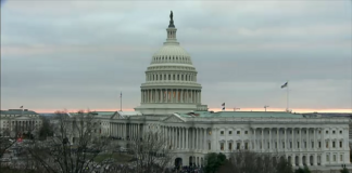 US Capitol building, Washington DC Wed. Jan. 6th, 2021 (screenshot of livestream camera)